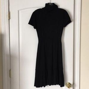 Turtleneck sweater dress black
